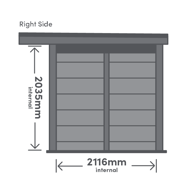 Earn Package Left View Illustration with measurement