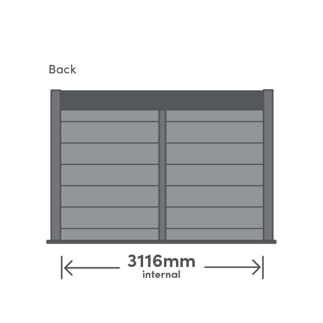 Rannoch Package Back View Illustration with measurement