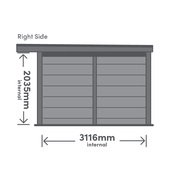 Rannoch Package Right View Illustration with measurement